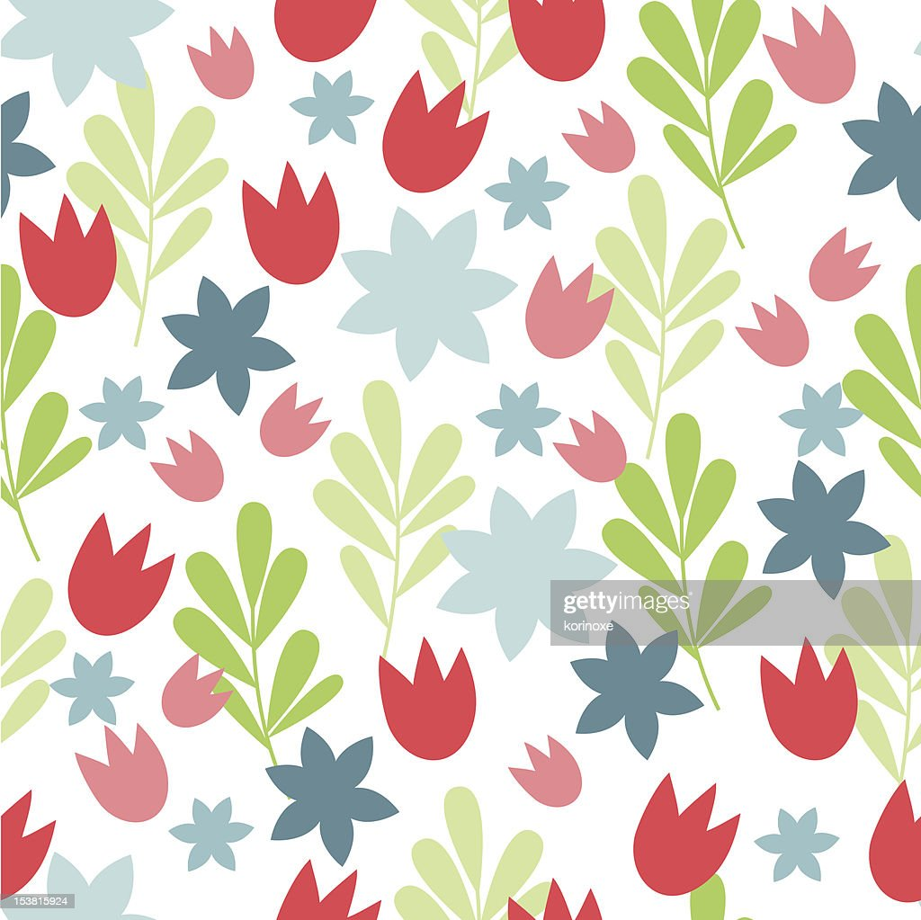 Simple Floral Background High Res Vector Graphic Getty Images