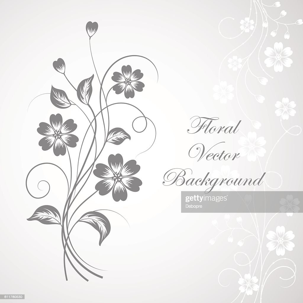 Simple Floral Background Stock Vector Getty Images