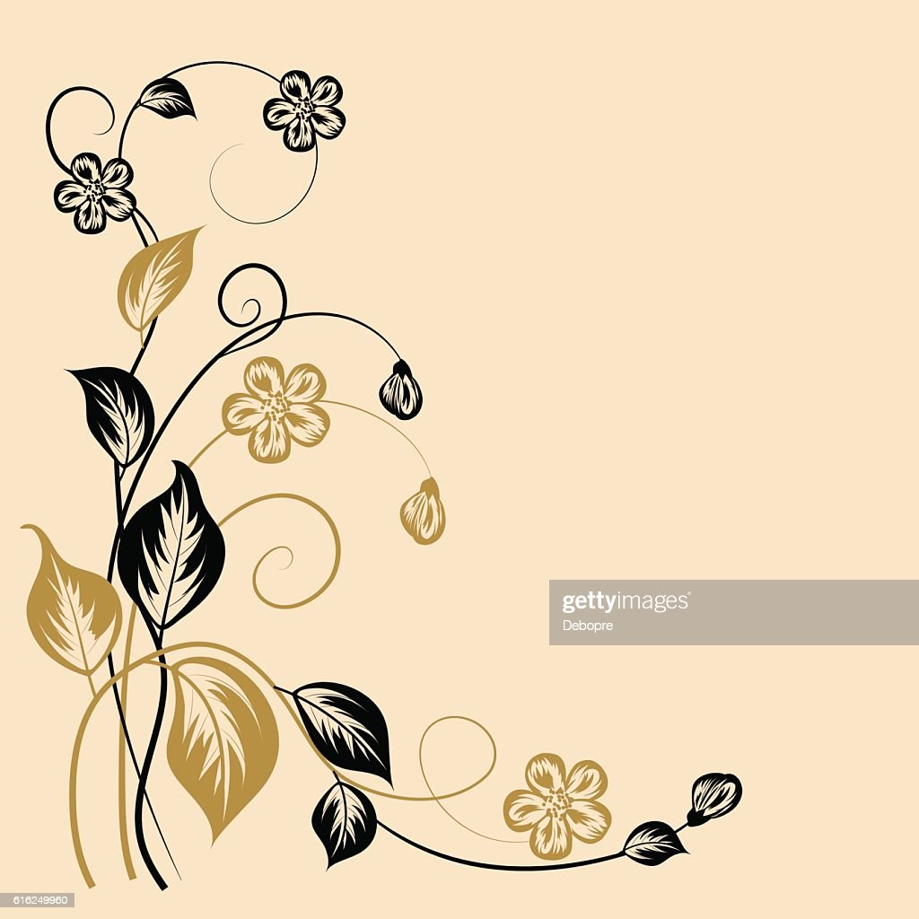 Simple floral background : Vector Art