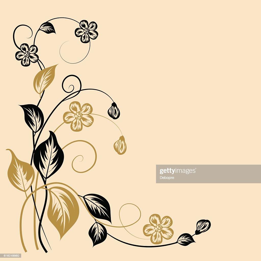 Einfache floral Hintergrund : Vektorgrafik