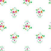 Simple flower bouquet seamless pattern