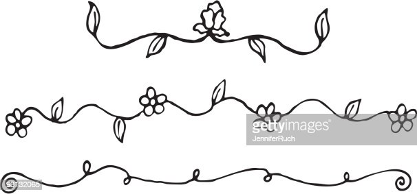 Easy To Draw Vines With Flowers