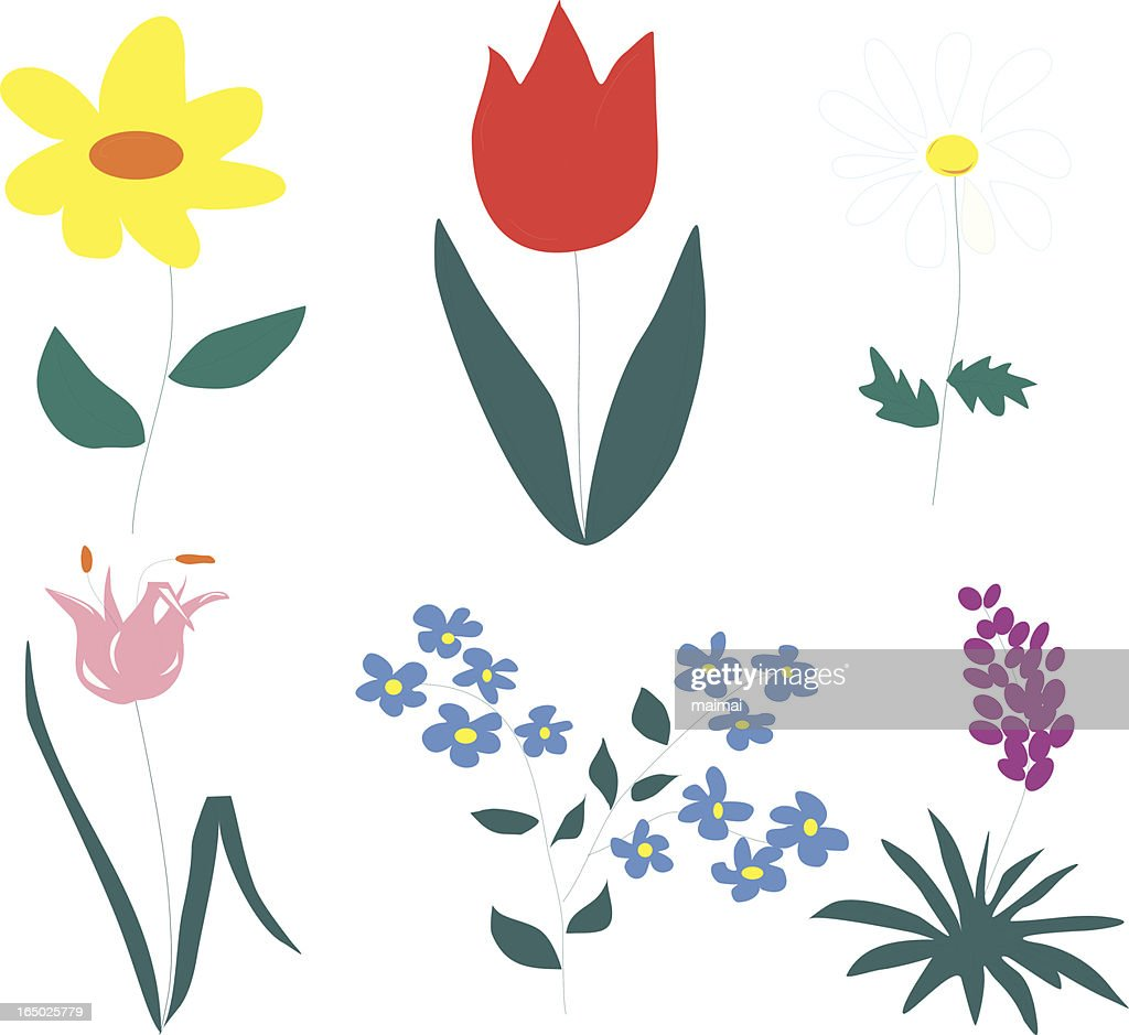 Simple Flowers High Res Vector Graphic Getty Images,Royal Blue Wedding Cupcake Designs