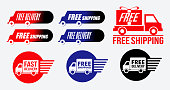simple free shipping or free delivery icon