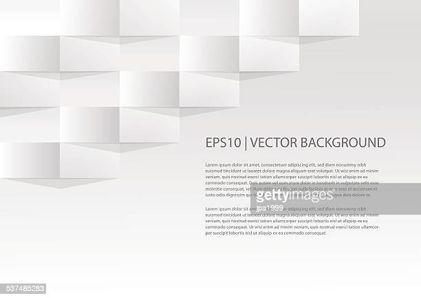simple geometric paper background - origami stock illustrations