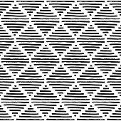 Simple geometric pattern. Black and white ornament.