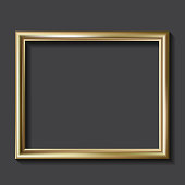 Simple golden picture frame