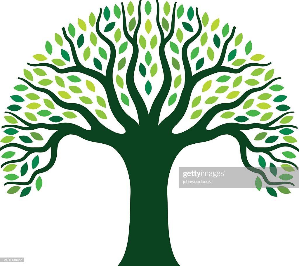 Simple graphic tree illustration : stock illustration