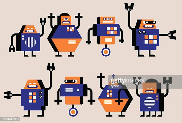 Simple graphics robots