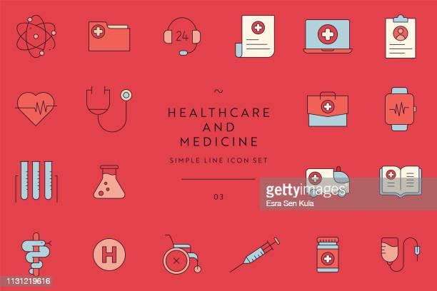 ilustrações, clipart, desenhos animados e ícones de jogo simples do ícone da linha dos cuidados médicos e da medicina - profissional de enfermagem