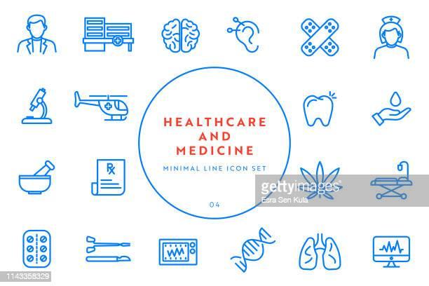 ilustraciones, imágenes clip art, dibujos animados e iconos de stock de simple línea de salud y medicina conjunto de iconos - pulmones humanos