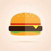Simple icon of burger.