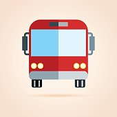Simple icon of bus.