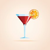 Simple icon of cocktail.