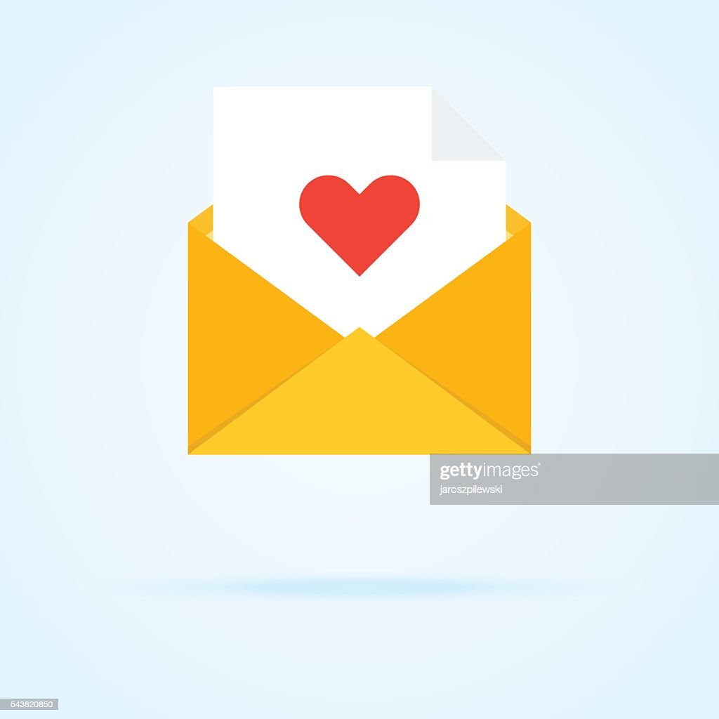 Simple icon of envelope with number in circle.