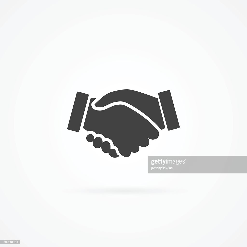 Simple icon of handshake.