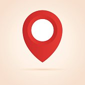 Simple icon of map pointer.