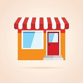 Simple icon of store front.