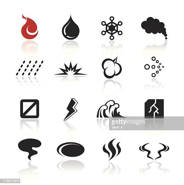 simple icon - smoke stock illustrations, clip art, cartoons, & icons