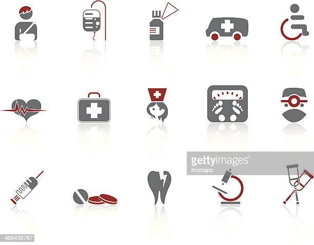 simple icons – medicine - broken arm stock illustrations, clip art, cartoons, & icons