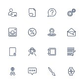 Simple icons set. App icons universal set for web and mobile