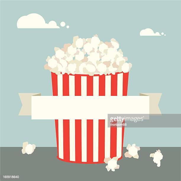 Simple illustration of popcorn