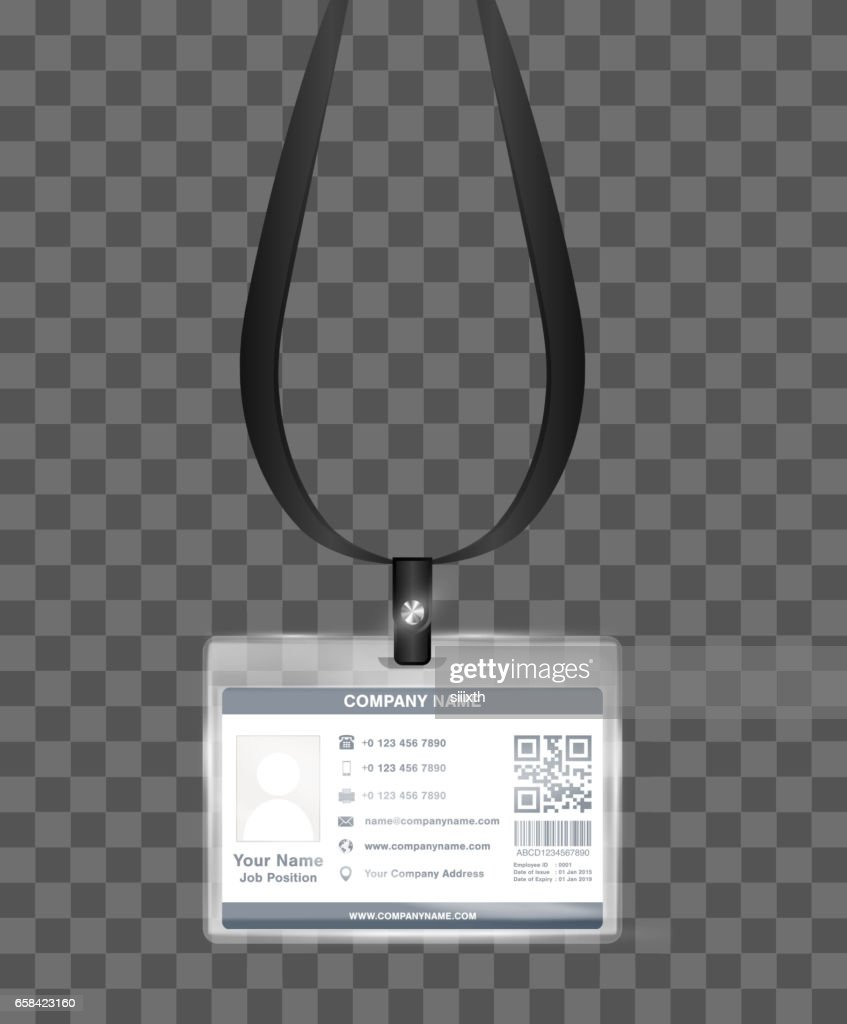 Simple Landscape Employee Id Card Template Vector Vector Art | Getty ...