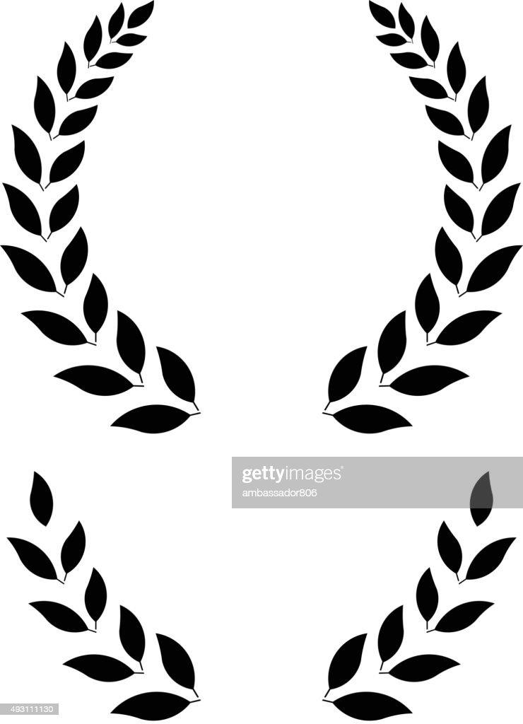 simple laurel wreath - vector illustration