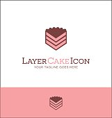 simple layer cake icon. vector illustration.