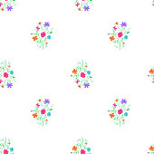 Simple light loppable floral pattern