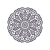 Simple Mandala ornament