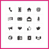 Simple minimalist communication icons
