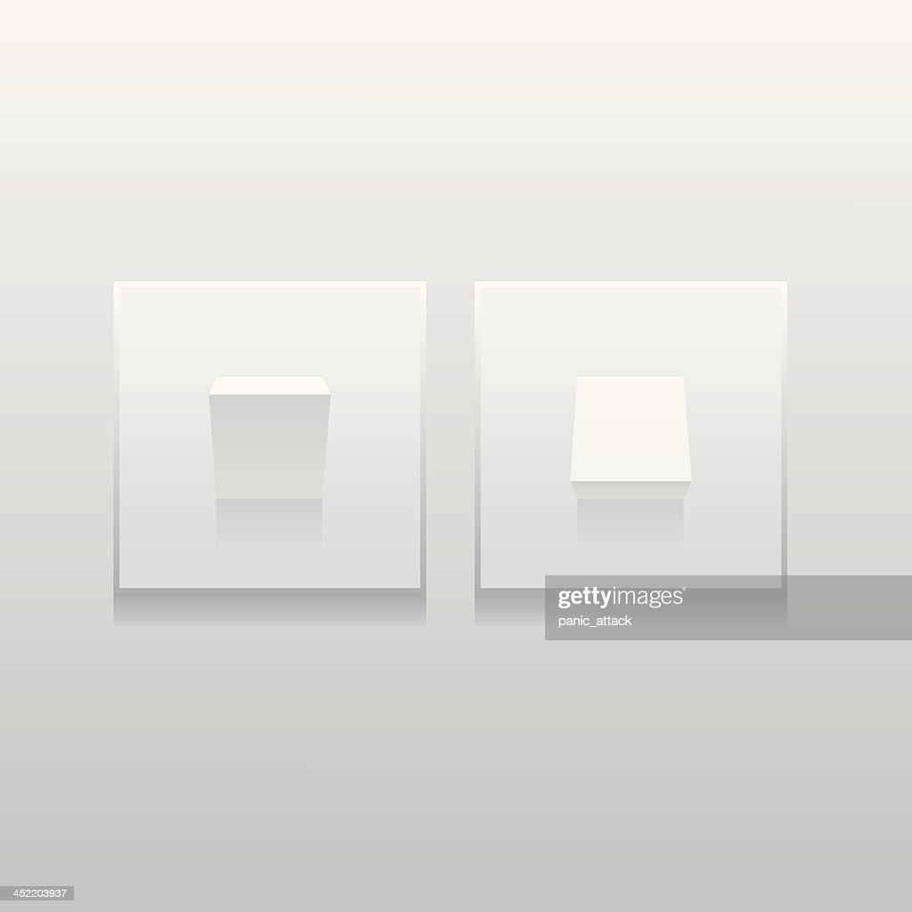 Simple modern light switches