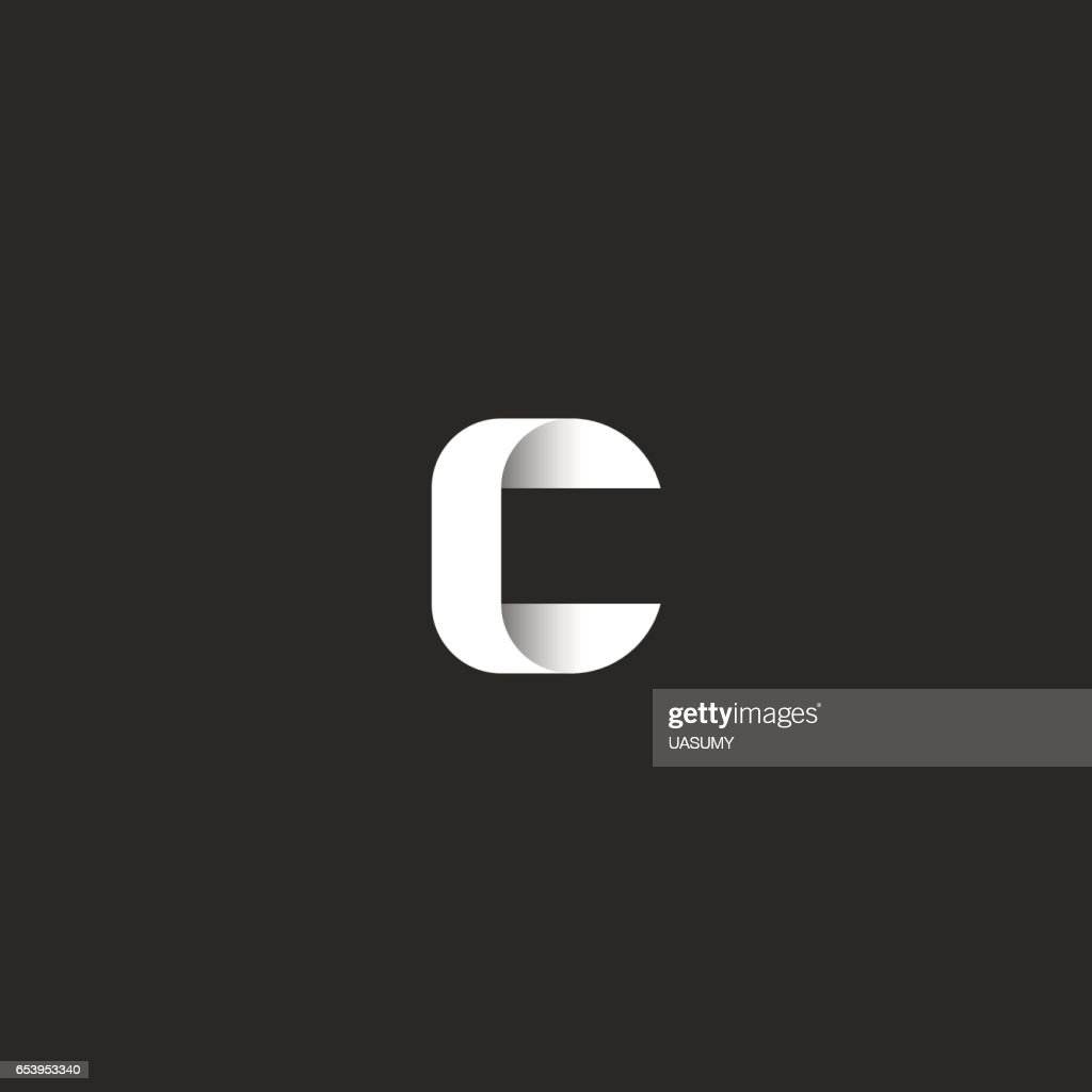 Einfachen Monogramm Logo C Brief Idee Gradient Hochzeit Einladung ...