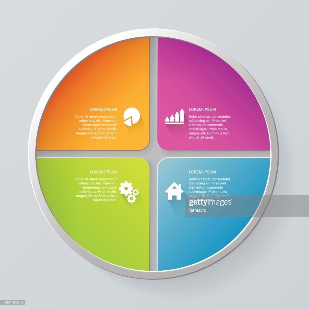 Simple Multicolor Circle Segment Step Process Steps Labels - Process steps template