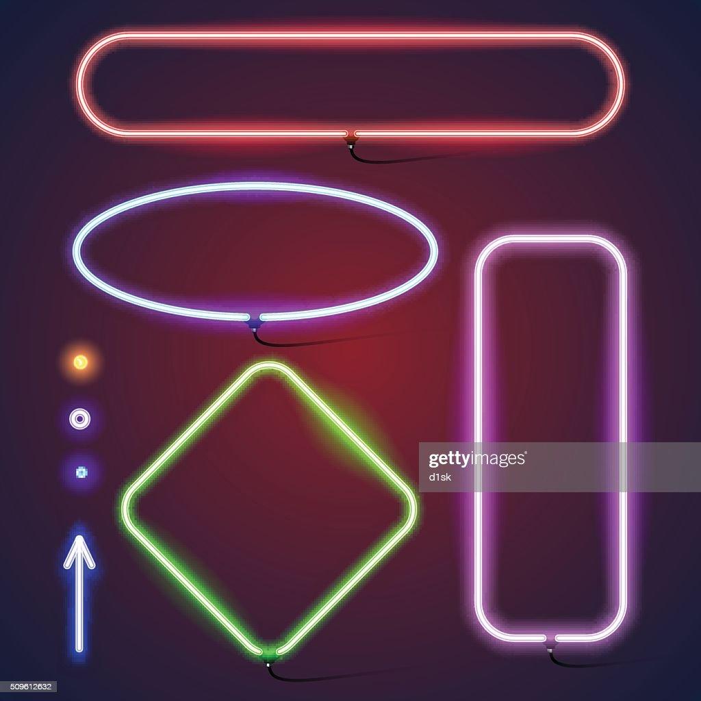 Simple neon frames
