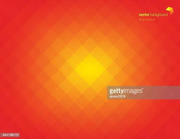Simple orange pixels background