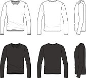 Simple outline drawing of a men's blank tee