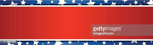 simple patriotic banner - president stock illustrations, clip art, cartoons, & icons