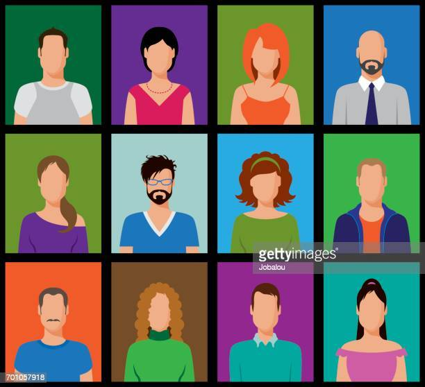 simple people avatars - avatar stock illustrations
