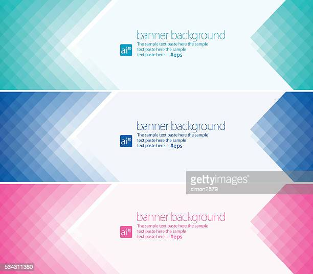 Simple pixels banner background Set