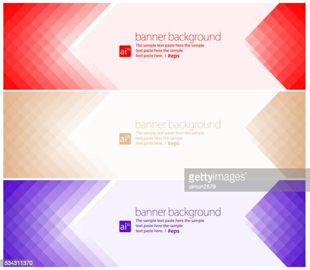 simple pixels banner background set - purple background stock illustrations, clip art, cartoons, & icons