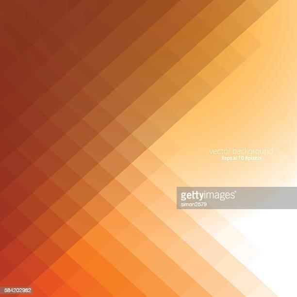 illustrations, cliparts, dessins animés et icônes de simple pixels design background - fond orange