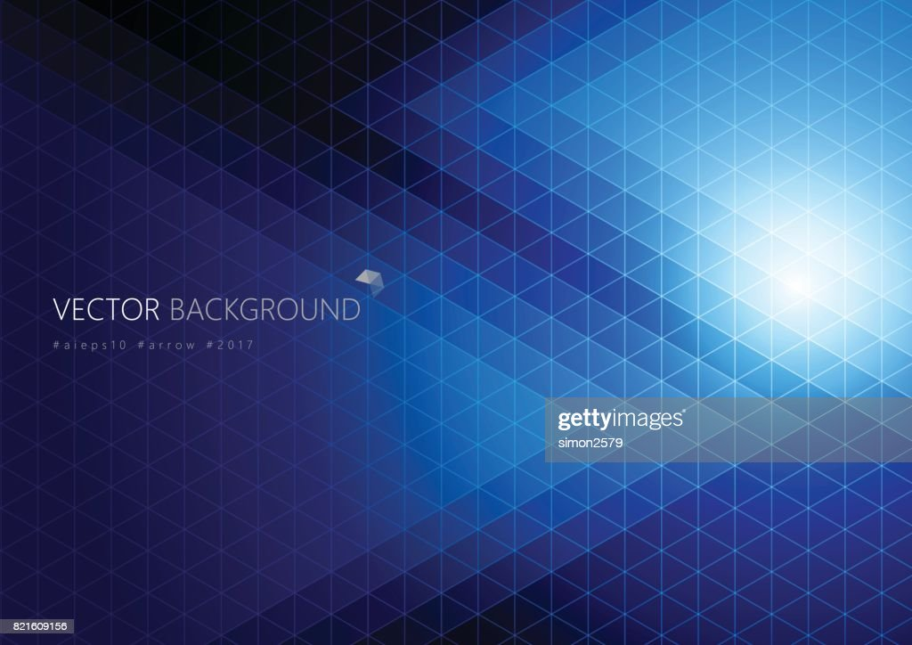 Simple pixels design with blue color background