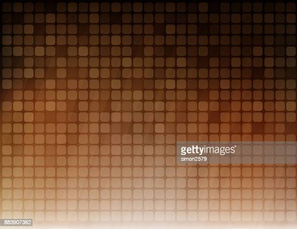 Simple pixels design with brown color background
