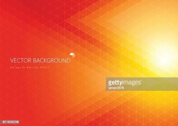 オレンジ色の背景を持つ単純なピクセル デザイン