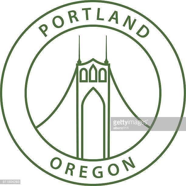 Simple Portland Oregon Stamp