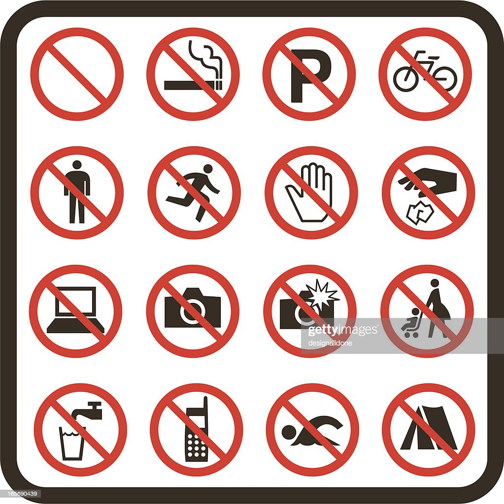 Simple Prohibited Signs