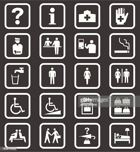 Simple Public Facilities Icons