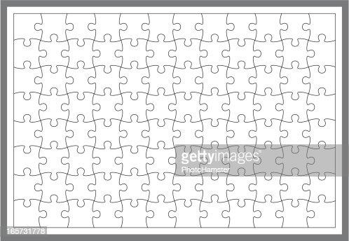 semplice puzzle frame arte vettoriale getty images. Black Bedroom Furniture Sets. Home Design Ideas